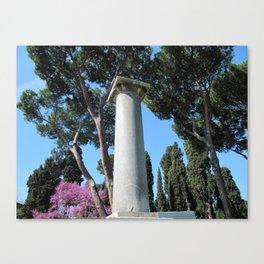 Grave Roman Column Canvas Print