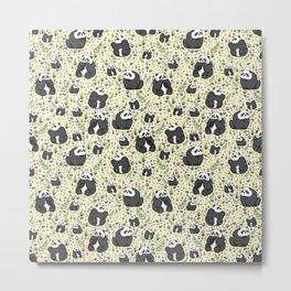 Panda Bears Metal Print