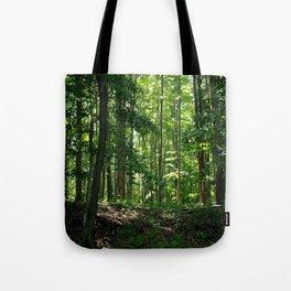 Pine tree woods Tote Bag
