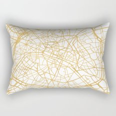 PARIS FRANCE CITY STREET MAP ART Rectangular Pillow