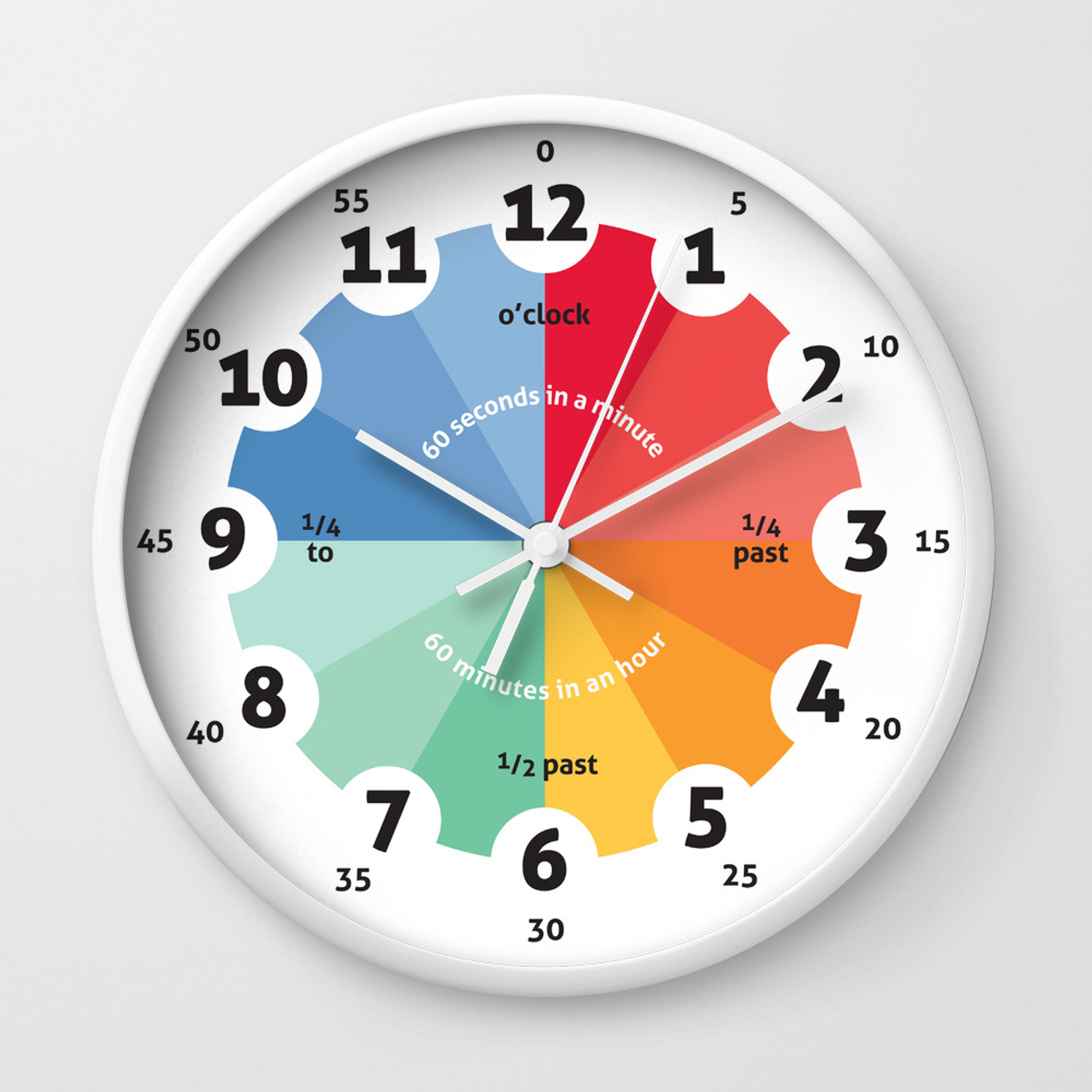 Learning Clock Gifts For Teachers Teaching Time Clroom Clocks Playroom Decor Nursery Wall