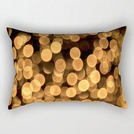 Golden Bokeh Light On A Black Background #decor #society6 Rectangular Pillow