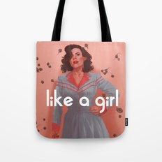 like a girl Tote Bag