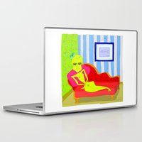 "matisse Laptop & iPad Skins featuring ""Stealing Matisse"" (Picasso Watching) by correia creative"