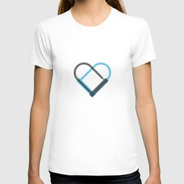 Bike Love - Two D-Locks creating a heart for the cycle lover T-shirt