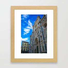 Entrance To The Duomo di Firenze Framed Art Print