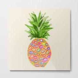 Pineapple or Pot Metal Print