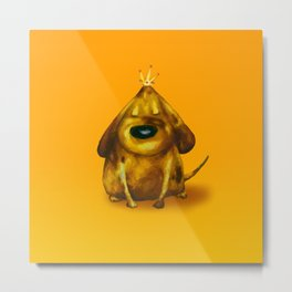 Gold King Metal Print