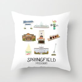Springfield, Missouri Throw Pillow