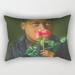 African American Masterpiece 'American Beauty' Portrait Painting Rectangular Pillow
