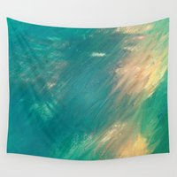 mermaid Wall Tapestries featuring Mermaid by Paul Kimble