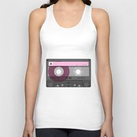 cassette Tank Tops featuring Cassette by Sedef Uzer