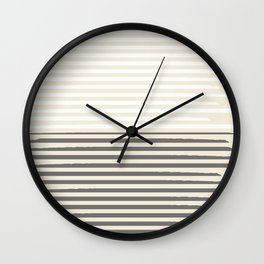 Brush Lines Pattern #society6 #decor #buyart Wall Clock