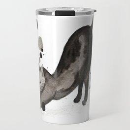 Stretching Cat Travel Mug