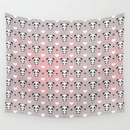 Cute Panda Wall Tapestry