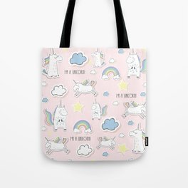 I'm a Unicorn - light pink Tote Bag