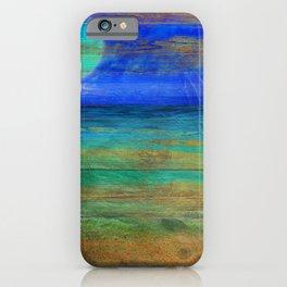 Turquoise Moon Night iPhone Case