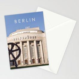 EAST BERLIN THEATRE - VOLKSBUEHNE Stationery Cards