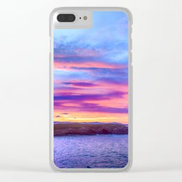 Biscay Bay sunset Clear iPhone Case