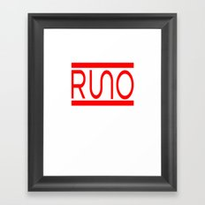 Rue Nothing RUNO Logo Red Framed Art Print