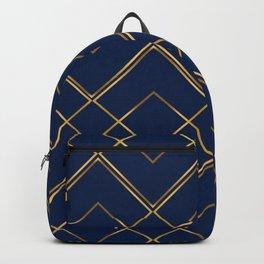 Royal Blue Gold Backpack