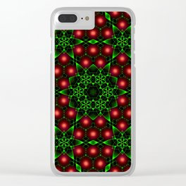 Christmas Patterns Clear iPhone Case