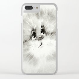 Surprised kitty Clear iPhone Case