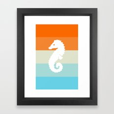 Out At Sea Series - Seahorse Sunset Framed Art Print