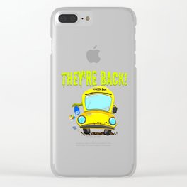 Monster Bus For Teachers and Staff Funny Back To School Gift Idea Clear iPhone Case