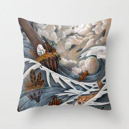 KING OF THE ISLE Throw Pillow
