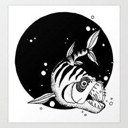 Bad Fish Art Print
