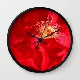 Red Swiss Flower Wall Clock