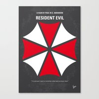 resident evil Canvas Prints featuring No119 My RESIDENT EVIL minimal movie poster by Chungkong