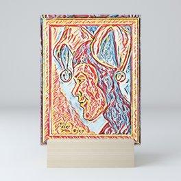 Jester Profile Mini Art Print