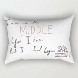 IN THE MIDDLE: PRIDE AND PREJUDICE by JANE AUSTEN Rectangular Pillow