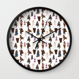 NSFW Pattern Wall Clock