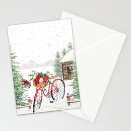 Winter Bicycle Stationery Cards