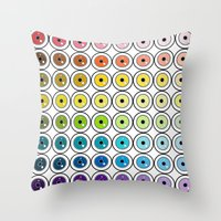 pantone Throw Pillows featuring Pantone Eyes  by Gabriel J Galvan