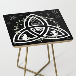 Celtic Knot, Evil Eye, and Cats Side Table