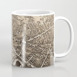 Vintage Pictorial Map of Medford Massachusetts (1880) Coffee Mug