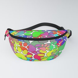 Lots Of Dog Paw Prints All Over Fanny Pack