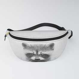 Raccoon - Black & White Fanny Pack