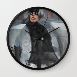 fuck work Wall Clock