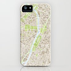 Paris SGB Watercolor Map iPhone (5, 5s) Slim Case
