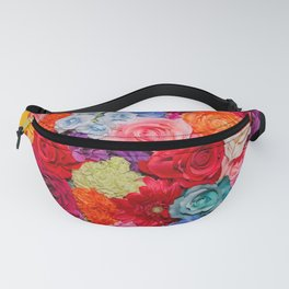 Vibrant Rainbow Flowers Fanny Pack