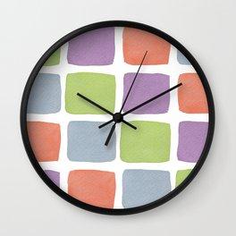 Watercolour Blocks 2 Wall Clock
