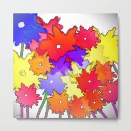 Cheery Abstract bouquet Metal Print