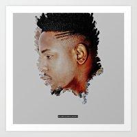 kendrick lamar Art Prints featuring Kendrick Lamar by rubenrodriguezinc