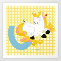 u for unicorn Art Print