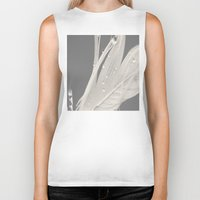 feather Biker Tanks featuring Feather by Dora Birgis